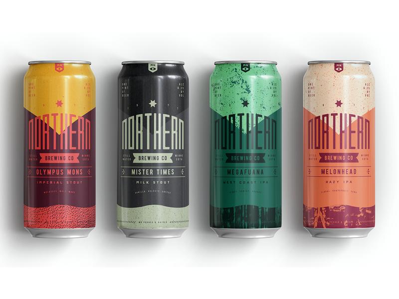 Northern Brewing 2 texture packagedesign beer branding