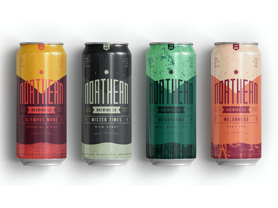 Northern Brewing 2 texture packagedesign beer branding