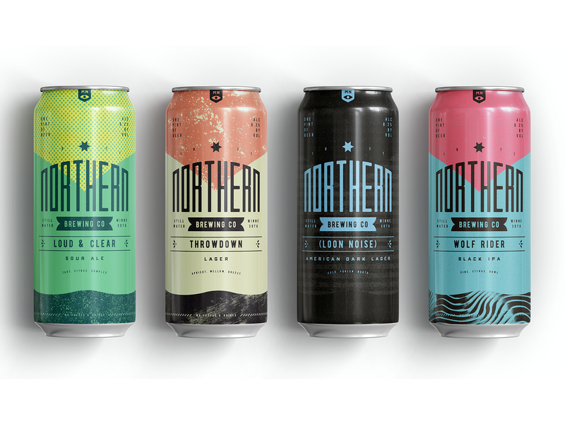 Northern Brewing 4 beer can texture branding packaging beer