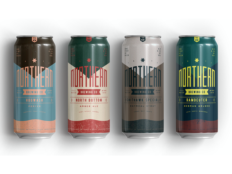 Northern Brewing 5 packaging texture beer packagedesign branding