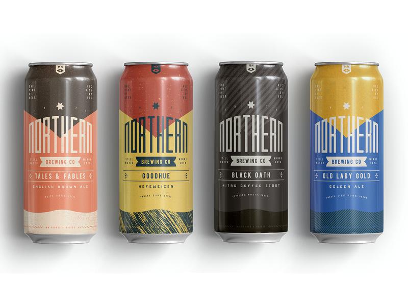 Northern Brewing 6 beer can packaging branding beer