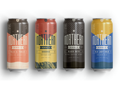 Northern Brewing 6 beer can packaging branding beer