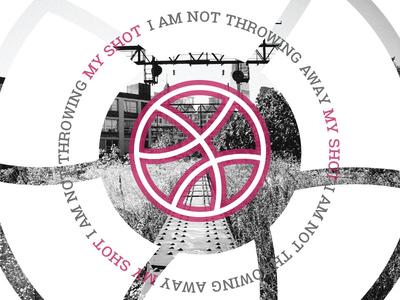 """I am not throwing away my shot"" hamilton philadelphia roboto slab pink photography debut dribbble"
