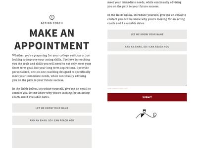 Form Design: KristinaFriedgen.com source sans pro appointment theatre form freelance noto serif