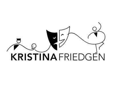 Logo Design for Kristina Friedgen: Acting Coach acting coach actor theatre logo design logo