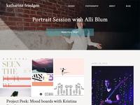 Katharine Friedgen - Website Redesign