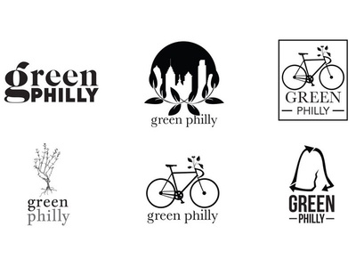 Green Philly Logo Explorations bicycle philadelphia bike city green philly small business environmental logo