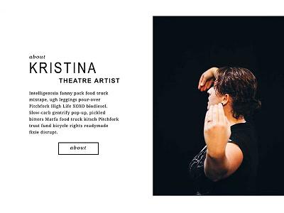 Website Element Exploration: KristinaFriedgen.com photography theatre about web design