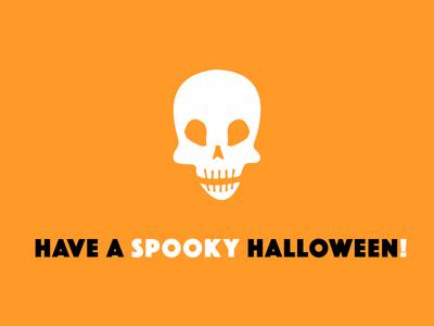 Spooky, Scary (Skeleton) black orange spooky skeleton skull halloween