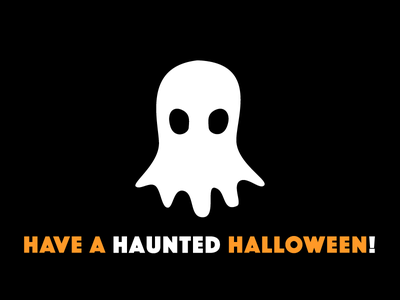 Spooky, Scary (Ghost) black orange haunted ghost halloween