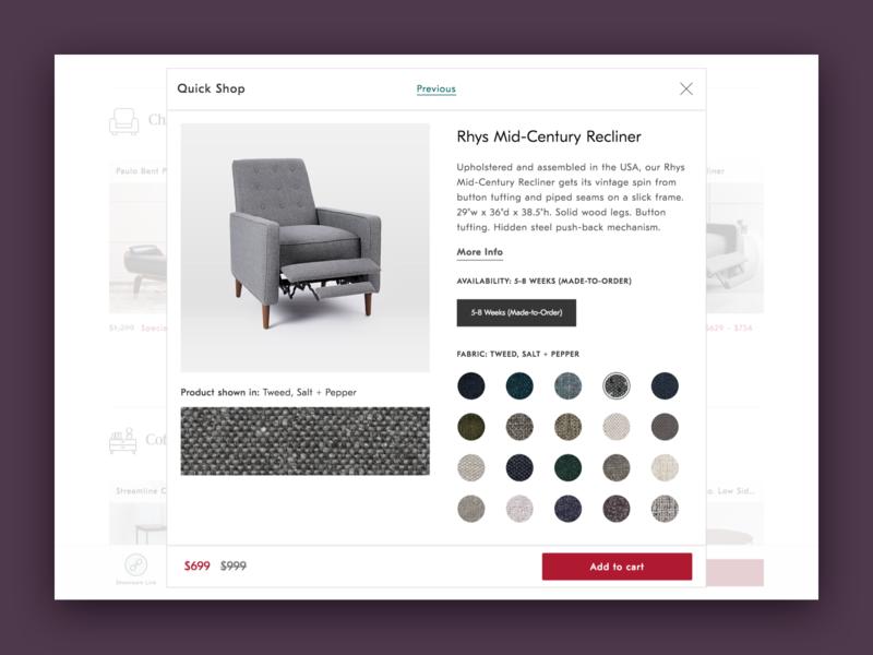 Guided Shop - Quick Shop Modal shop pdp product detail page modal quick shop category
