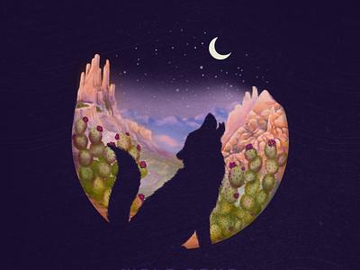 Wolf Song Album Cover illustration album cover art