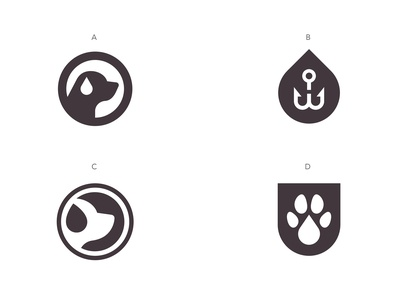 Wet Dog Logo Concepts