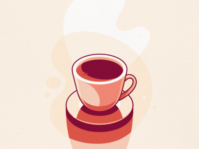 Coffee vector line illustration flat cup coffee