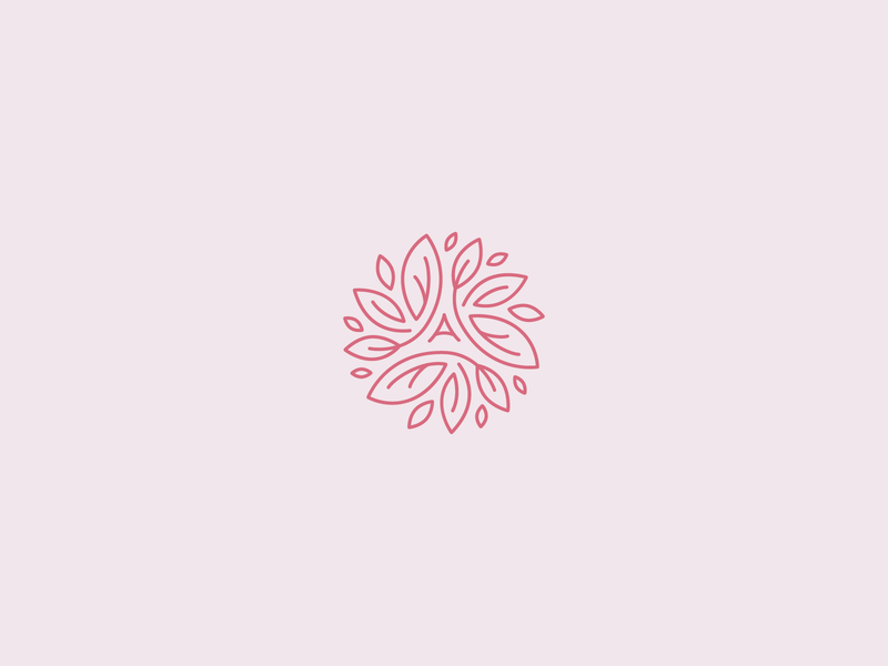Alice England logo flower line linear logodesign vector minimal leaf beauty logo beauty natural