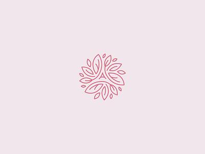 Alice England logo flower line linear logodesign vector minimal leaf beauty logo beauty natural