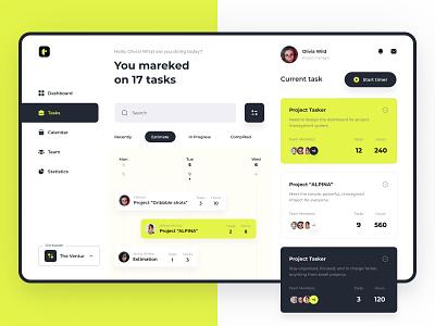 Project Management Dashboard - Light mode design product design mobile app web app uxui design saas dashboard uxdesign uidesign