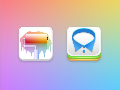 Android Icon launcher brush clothe color logo icon android theme wallpaper
