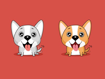 Dog dog cute lovely animal red yellow happy 2018 year new