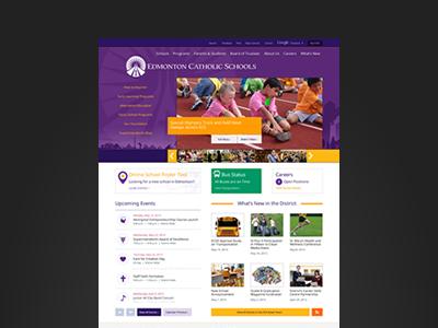 ECS Homepage website homepage school