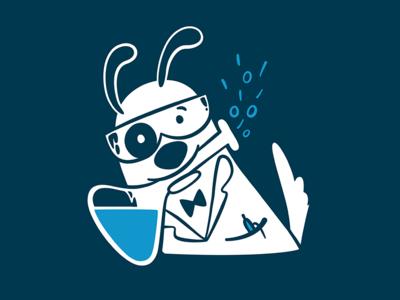 Science Dog! science beaker design tshirt dog vector illustration