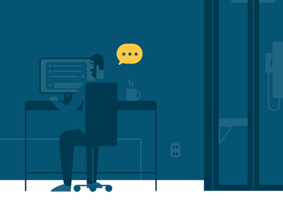 *typing* booth telephone chat vector illustration contact