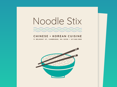 BSDS THUNDERDOME: Noodle Stix Menu Cover chinese food bsds thunderdome illustration typography bsdsthunderdome bsds