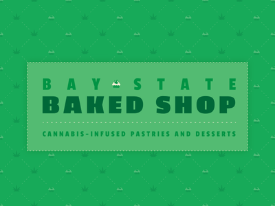 Bay State Baked Shop - BSDS THUNDERDOME bsds thunderdome pattern cannabis typography bsdsthunderdome bsds
