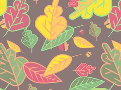 Falling Leaves seasons autumn fall leaves pattern vector illustration