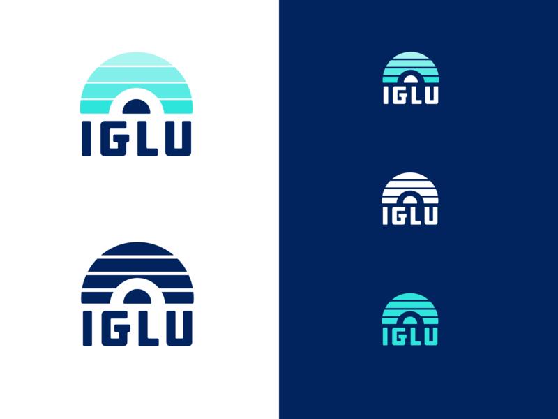 IGLU Alternatives winter knockout logo brand igloo illustration