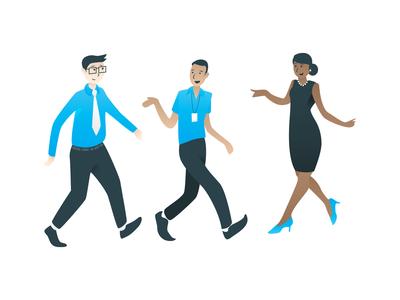 Office Workers illustrator illustration people office barkly vector illustration vector