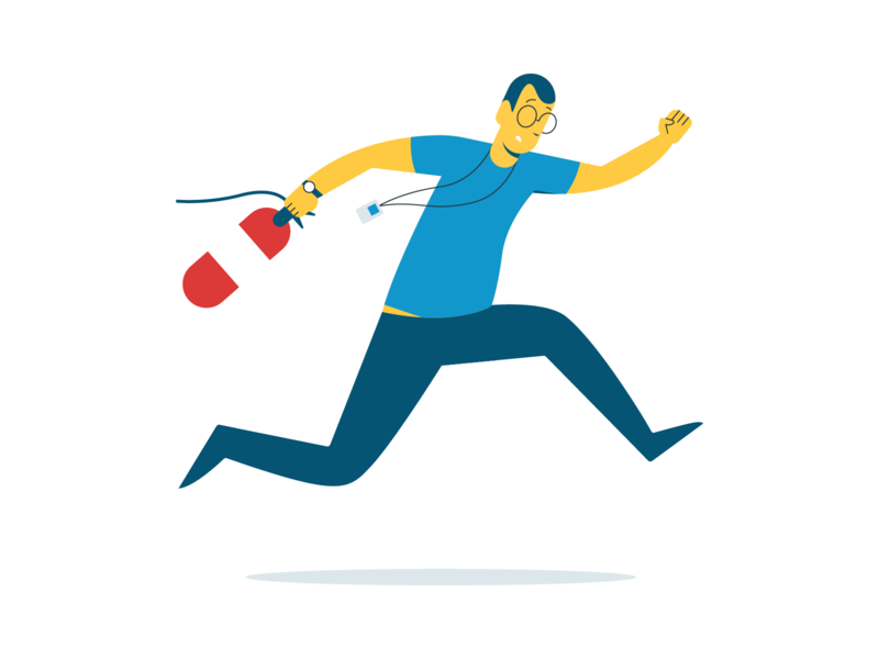 Firedrill drill fire it guy cybersecurity vector illustration