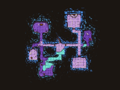 a lil dungeon spooky game art grid procreate dungeons and dragons dungeon dnd map illustration