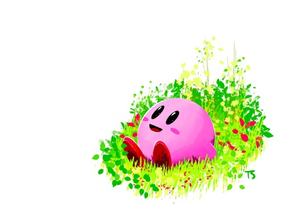 A wholesome Kirbs nintendo fan art procreate illustration