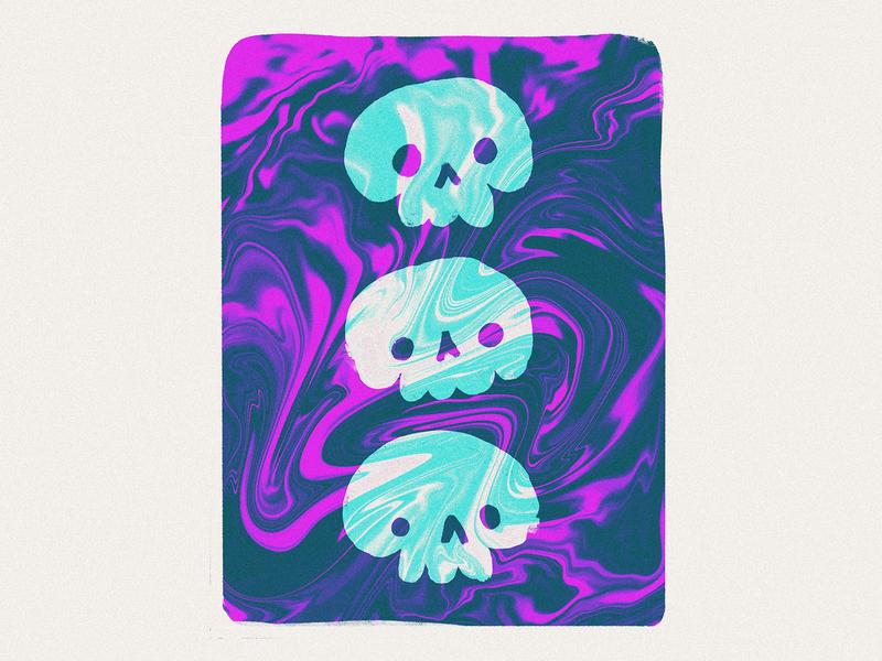 3skull spooky texture skull procreate