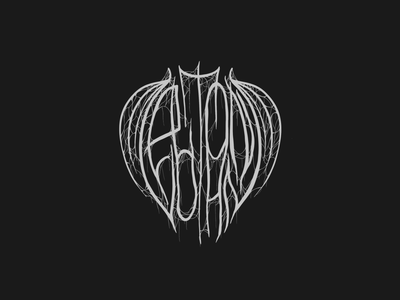 Elton John but metal af spooky evil gross lettering metal procreate logo