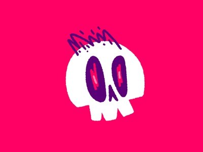 New profile pic who dis? skull procreate illustration