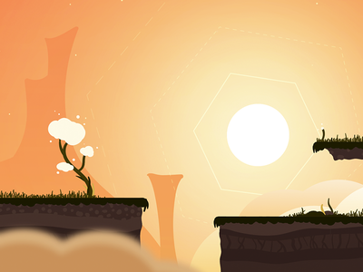 Sky Level environment background game illustration indie dev game dev game art video game