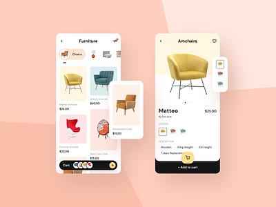 Furniture E-commerce App furniture ui design