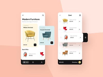 Furniture E-commerce App ecommerce funiture ui design ui