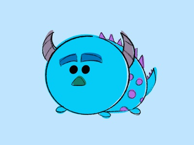 Disney Sulley Drawing sketchapp drawing tsum tsum monsters inc sulley disney