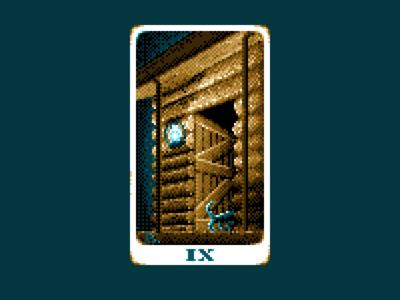 The Hermit - Pixel Tarot