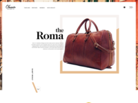 Classic Leather Co. Homepage Mockup