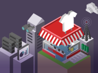Isometric, Retail Store Illustration