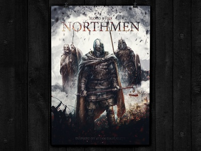 Northemen retouching photoshop game poster movieposter northmen viking vikings