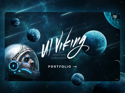 Ui Viking 3.0 parallax planets space viking ui-viking potfolio