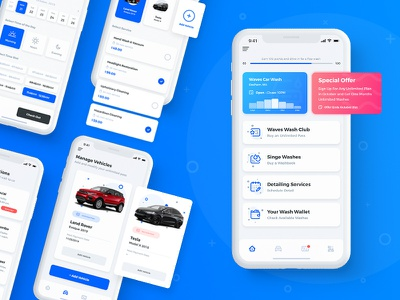 Waves Car Wash App washify ui viking alex borisson wash app appointment shedule washing car app car wash