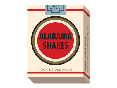 Alabama Shakes poster lucky strike concert poster alabama shakes tulsa oklahoma