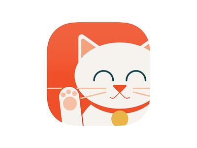 Happy Kitty avatar app icon illustration kitty cat icon