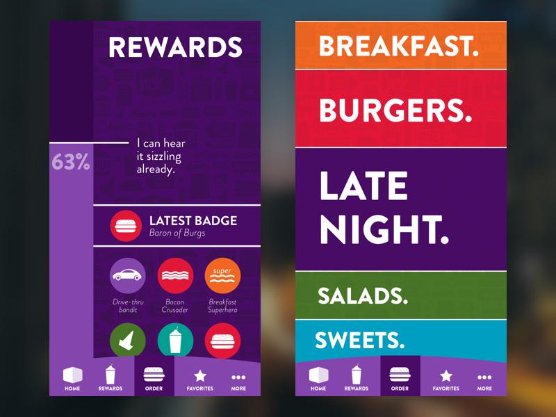 Burger Nights online ordering jack in the box ios ux ui burgers